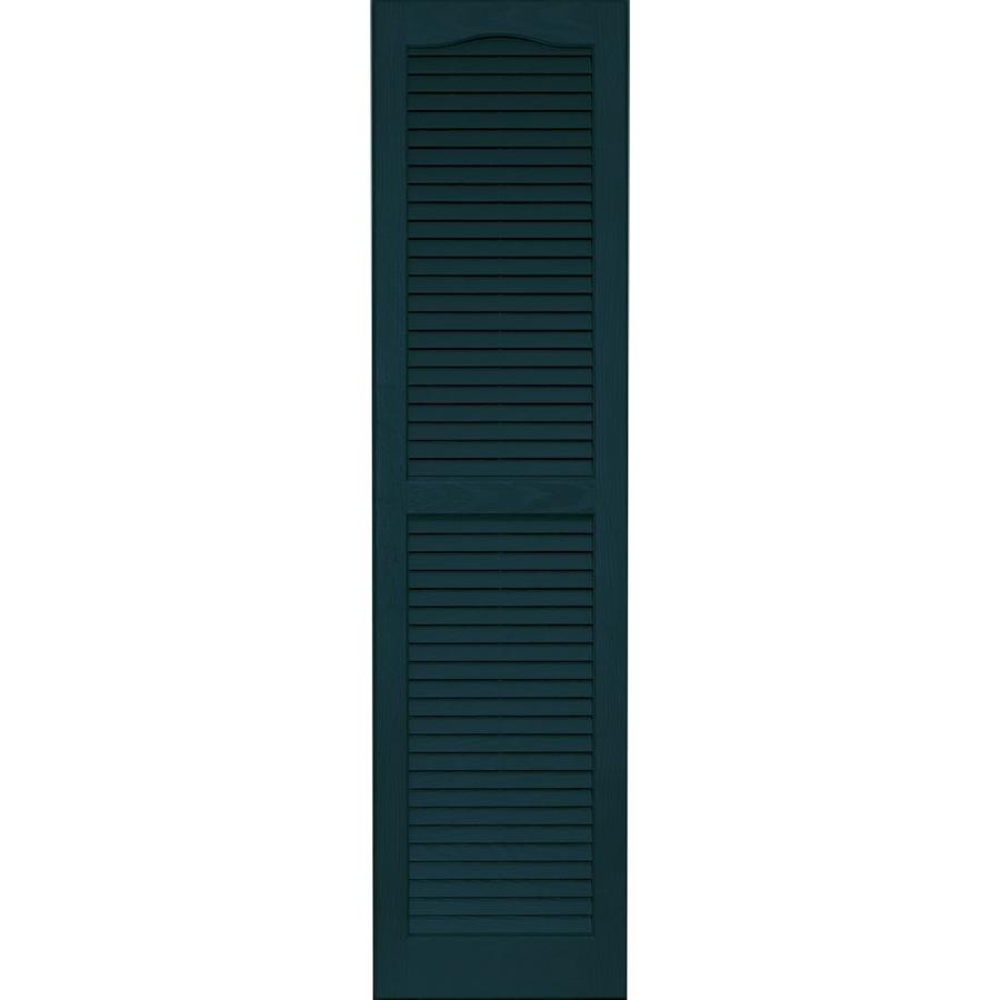 Shop Vantage 2 Pack Indigo Blue Louvered Vinyl Exterior Shutters Common 55 In X 14 In Actual