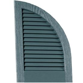 Vantage 2-Pack Wedgewood Blue Louvered Vinyl Exterior Shutters (Common: 14-in x 20-in; Actual: 13.875-in x 20.0625-in)