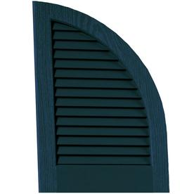 Vantage 2-Pack Indigo Blue Louvered Vinyl Exterior Shutters (Common: 20-in x 14-in; Actual: 20.06-in x 13.875-in)