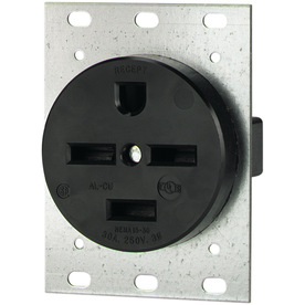 Cooper Wiring Devices 30-Amp 250-Volt Black 4-Wire Grounding Plug