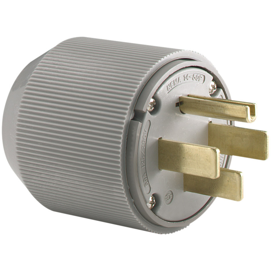 Shop Cooper Wiring Devices 50-Amp 125/250-Volt Gray 4-Wire ...