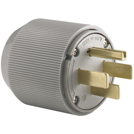 Cooper Wiring Devices 50-Amp 125/250-Volt Gray 4-Wire Grounding Plug