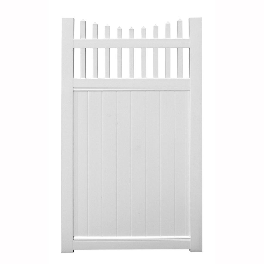 Shop Barrette 6 Ft X 4 Ft White Privacy Walk Vinyl Fence