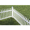 Gatehouse White Vinyl Fence Panel (Common: 8-ft x 3-ft; Actual: 7.68-ft x 3-ft)