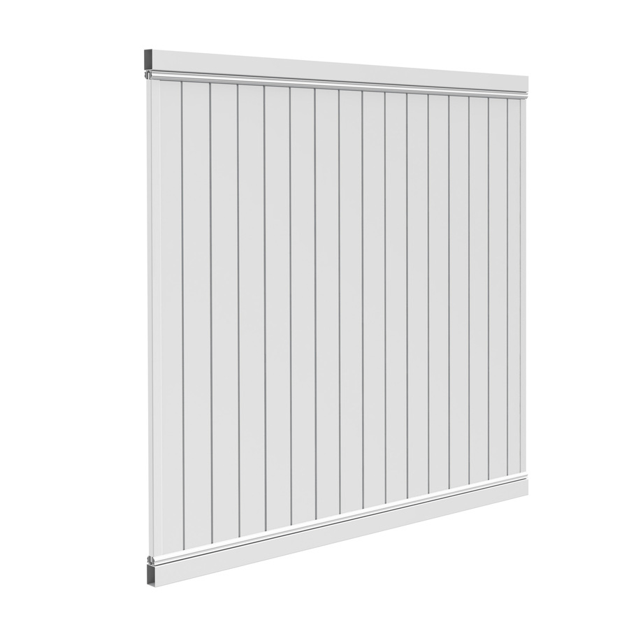 Shop Barrette Select White Flat Top Privacy Vinyl Fence