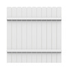 FREEDOM White Vinyl Privacy Fence Panel (Common: 6-in x 72-ft; Actual: 5.68-ft x 70-ft)