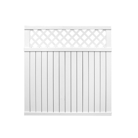 Barrette White Privacy Vinyl Fence Panel (Common: 6-ft; Actual: 5.64-ft)