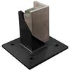 Barrette 4-Pack Black Metal Aluminum Post Support