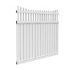 Barrette Select Princeton 6-ft x 6-ft White Scalloped Privacy Vinyl Fence Panel