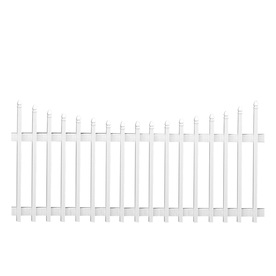 Barrette Select 42-in x 8-ft White Gothic Picket Vinyl Fence Panel