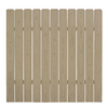 6-ft x 6-ft Woodgrain Beige Dog-Ear Privacy Vinyl Fence Panel