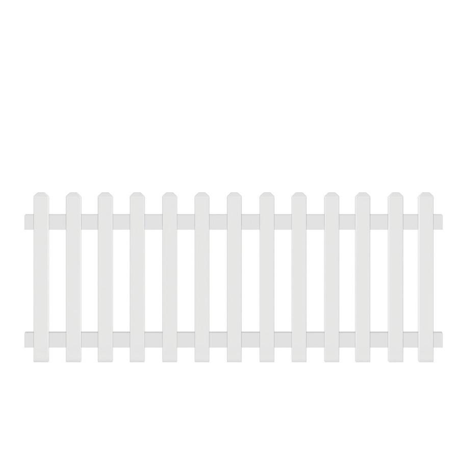 Shop Barrette N A White Dog Ear Picket Vinyl Fence Panel