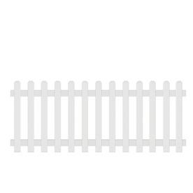 Barrette Gothic White Vinyl (Not Metal) (Not Wood) Vinyl Fence Panel (Common: 8-ft x 6-ft; Actual: 7.68-ft X