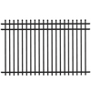 FREEDOM 5-ft x 8-ft Black Aluminum Fence Panel