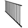 Freedom Chatham 48.5-in x 28-in Black Aluminum Porch Railing
