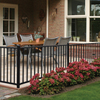 Freedom Chatham 70.75-in x 28-in Black Aluminum Porch Railing