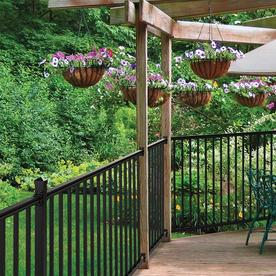 Barrette 2-1/2 x 6 Chatham Black Aluminum Porch Rail Panel