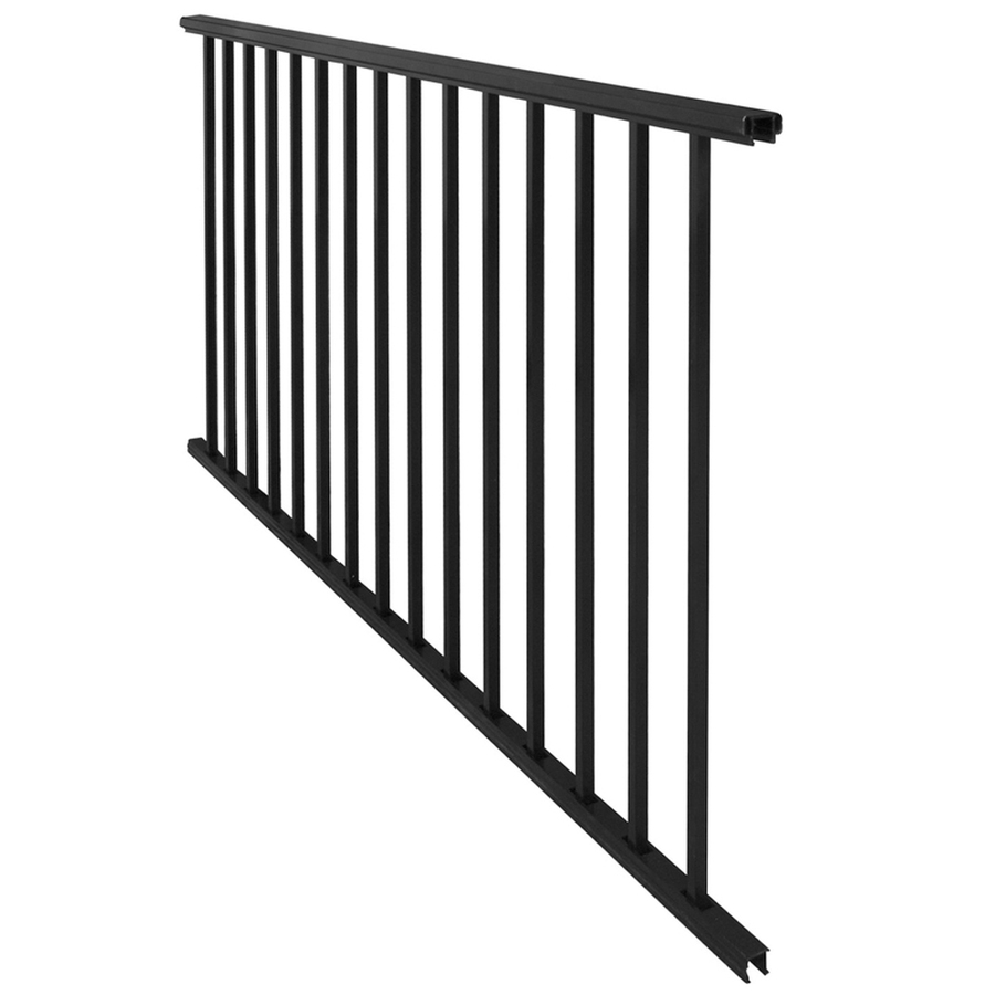 Shop barrette 3 ft x 6 ft black aluminum porch rail at - Vinyl deck railing lowes ...