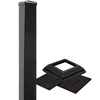 Barrette 2-1/2 x 2-1/2 x 39 Somerset/Newcastle Black Aluminum Porch Post Kit