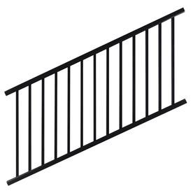shop barrette 4 x 6 flat top black aluminum stair rail