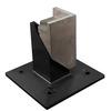 FREEDOM 4-Pack Black Metal Aluminum Post Support