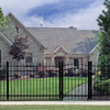 Freedom Standard Providence Black Aluminum Decorative Fence Panel (Common: 6-ft x 5-ft; Actual: 6.02-ft x 4.89-ft)