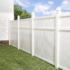 Freedom Pre-Assembled Brighton White Vinyl Privacy Fence Panel (Common: 6-ft x 6-ft; Actual: 5.45-ft x 5.66-ft)
