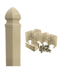 Barrette 4-3/4-in x 8-ft 9-in Desert Sand Vinyl Post with Top and Hardware