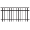 FREEDOM 3-ft x 6-ft Black Aluminum Fence Panel
