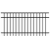 FREEDOM Black Aluminum Decorative Fence Panel