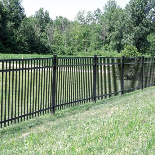 Barrette Black Aluminum Fence Panel Gate At Lowes Fencing