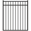 Freedom New Haven Black Aluminum Decorative Fence Gate (Common: 4-ft x 4.5-ft; Actual: 3.875-ft x 4.625-ft)