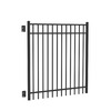 FREEDOM Black Metal Decorative Fence Gate