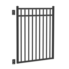 Shop freedom new haven black aluminum decorative fence gate common 4 ft x 4 5 ft actual 3 - Most frequent fence materials ...