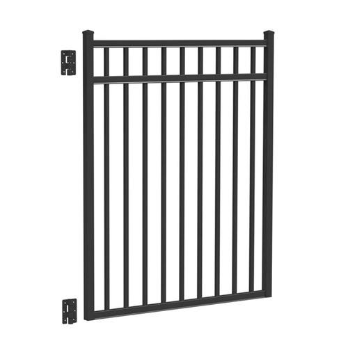 Barrette black aluminum fence panel gate at lowes fencing
