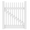 Barrette Keswick Straight 50-1/2-in H x 44-in W White Vinyl 2-Rail Gate Frame Kit