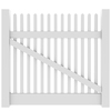 Barrette Elite Keswick Straight 4-ft x 5-ft White Picket Drive Vinyl Fence Gate