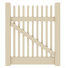 Barrette Elite Keswick Straight 4-ft x 4-ft Sand Picket Walk Vinyl Fence Gate