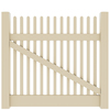 Barrette Elite Keswick Straight 4-ft x 5-ft Sand Picket Drive Vinyl Fence Gate