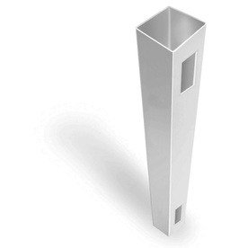Freedom Ready-to-Assemble White Vinyl Fence End Post (Common: 5-in x 5-in x 7-ft; Actual: 5-in x 5-in x 7-ft)