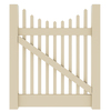 Barrette Elite Keswick Scallop 4-ft x 4-ft Sand Picket Walk Vinyl Fence Gate
