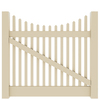 Barrette Elite Keswick Scallop 4-ft x 5-ft Sand Picket Drive Vinyl Fence Gate