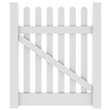 Barrette Elite Lennox Straight 4-ft x 4-ft White Picket Walk Vinyl Fence Gate