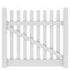 Barrette Elite Lennox Straight 4-ft x 5-ft White Picket Drive Vinyl Fence Gate
