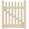 Barrette Elite Lennox Straight 4-ft x 4-ft Sand Picket Walk Vinyl Fence Gate