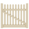 Barrette Elite Lennox Straight 4-ft x 5-ft Sand Picket Drive Vinyl Fence Gate