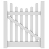 Barrette Elite Lennox Scallop 4-ft x 4-ft White Picket Drive Vinyl Fence Gate