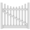 Barrette Elite Lennox Scallop 4-ft x 5-ft White Picket Drive Vinyl Fence Gate