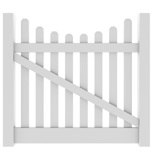 White Vinyl Fence Gate 187 Fencing