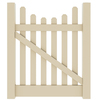 Barrette Elite Lennox Scallop 4-ft x 4-ft Sand Picket Walk Vinyl Fence Gate